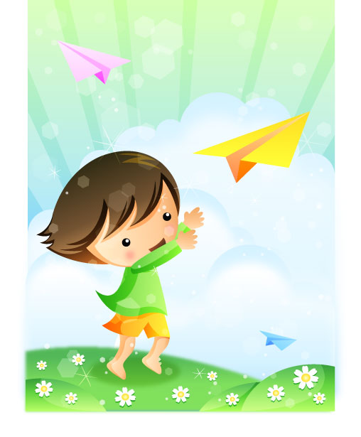 Paper plane can be dream of children